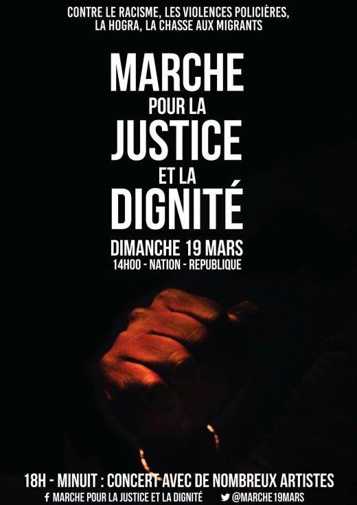 Contre Le racisme, Les violences policières, La hogra, La chasseaux Migrant-E-S