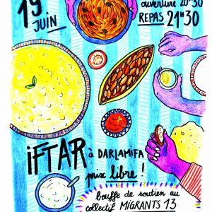 Iftar avec le collectif Migrant 13 et la Dar Lamifa